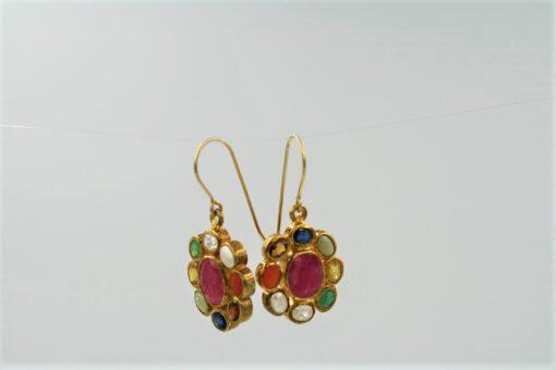 Alternate View Multi-Gemstone Earrings with Gold