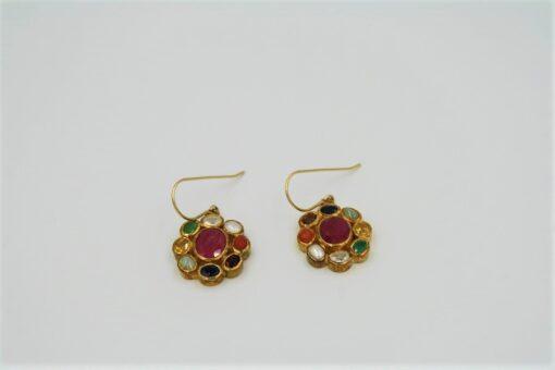 Multi-Gemstone Earrings with Gold