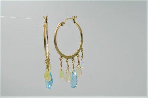 2nd View of Topaz Opal Earrings